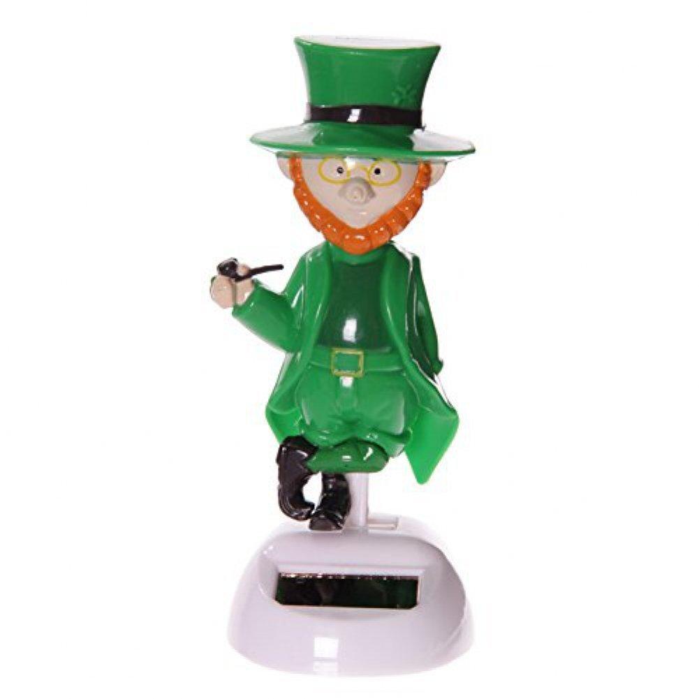 Puckator FF52 Figurine Solaire Farfadet 6 x 5 x 12 cm Plastique Vert//Orange//Blanc