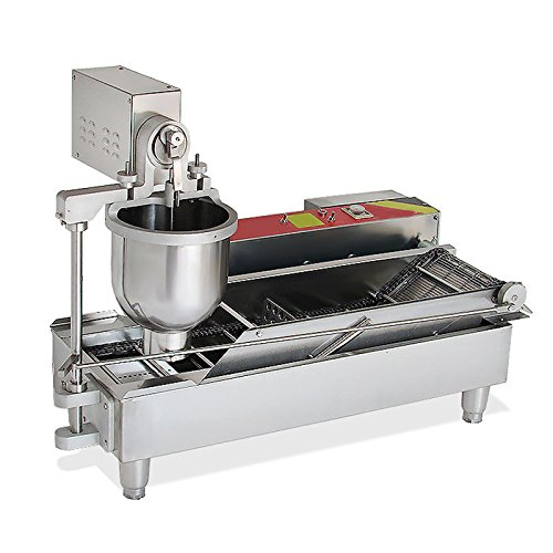 Genmine Automatic Donut Making Machine Commercial Electric Auto Doughnut Donut Maker Machine Auto Donuts Frying Molding Turning Collecting Fryer Factory 110V (Can Making 3 Sizes Donut) by Genmine (Image #2)