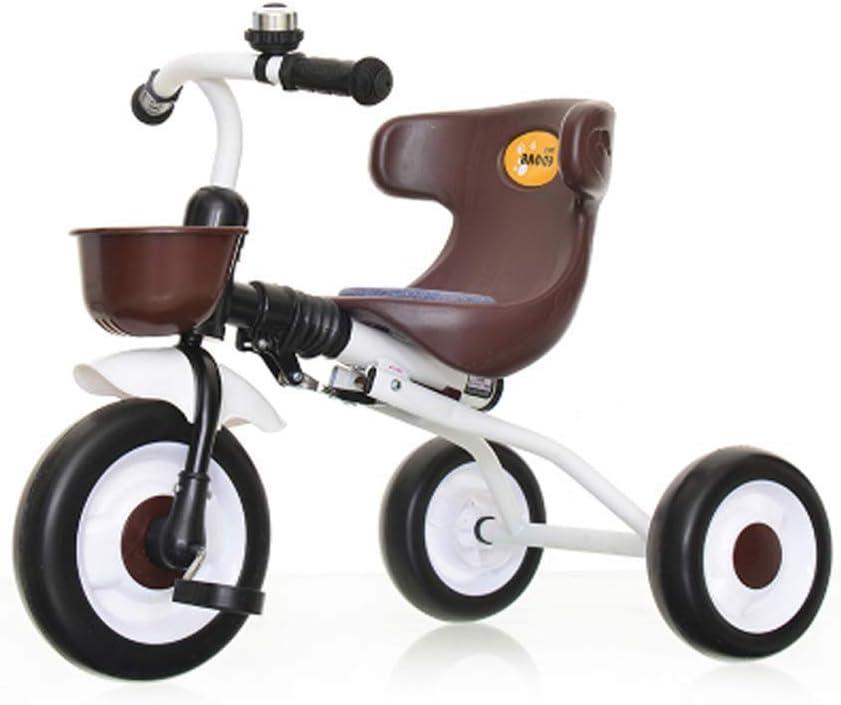 3 En 1 Trciciclo Infantil para Niños Bicicleta De Balance con Pedales Desmontables Triciclo Plegable con 3 Ruedas Superligero para Niños Niñas De 1.5-4 Años Y Niños Pequeñoscoffee
