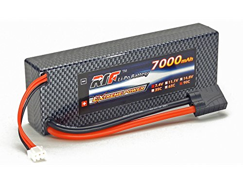 7.4V 7000mAh 2S Cell 90C-180C HardCase LiPo Battery Pack w/ Traxxas High Current Style Connector w/ WARRANTY - Giant Power, Dinogy, Extreme Power, RTF