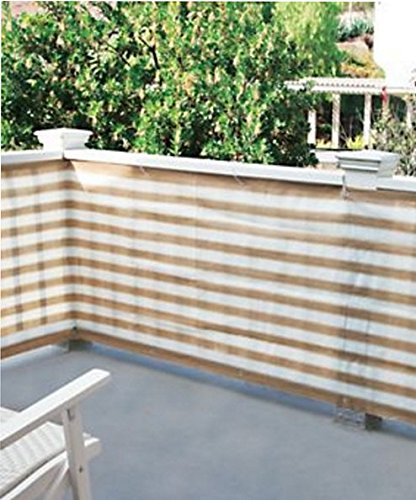 BW Brands Outdoor Deck Patio Privacy Screen Net Tan