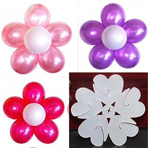 Wed2BB 25 pcs of Plastic Balloon Clips Closures - Make Flower design Balloon For Wedding Birthday Party Holiday Decoration ()