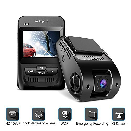 Dash Cam- 1080P FHD Car Camera 2.3″ LCD Screen 150°Wide-Angle Car DVR with Sony Image Sensor, WDR, HDR, G-Sensor, Super Night Vision, Loop Recording,Emergency Recording, Black