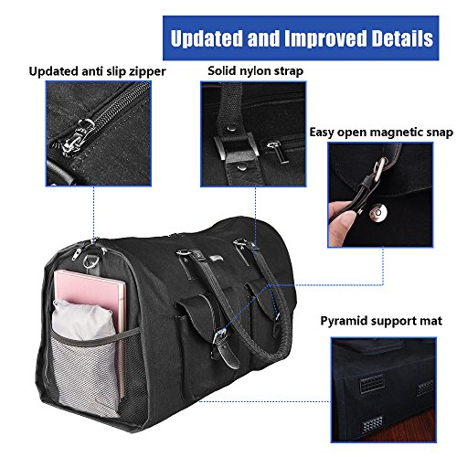 Two-In-One Convertible Travel Garment Bag Carry On Suit Bag, Easily Transforms Into a Sports Duffel by GYSSIEN (Image #5)