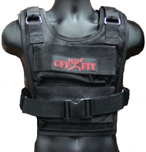 CFF Weighted Short Vest 36 lbs – Great for Cross Training, Running Fireman Training