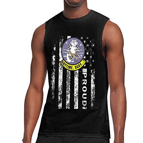 US Navy F-14 Tomcat Squadron Mens Sleeveless Activewear Top Jersey