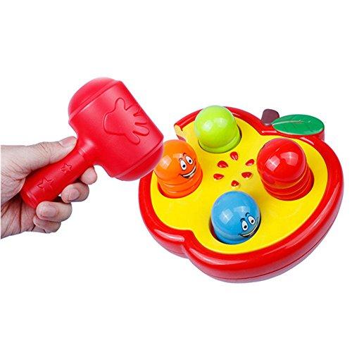 OFT Apple Percussion Hamster Klopfen Maus Spielen Perkussionsspielwaren Spiel mit Hämmern