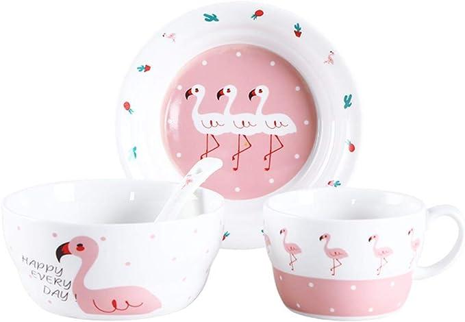 Vajilla infantil cubiertos de cerámica juego de platos para bebés ...
