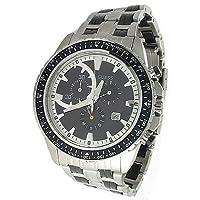 ¿ADIVINAR? Reloj casual de caballero deportivo para hombres, acero inoxidable, color cuarzo plateado (modelo: w25003g1