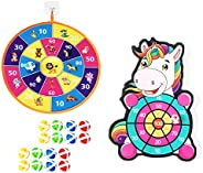 Dartboard Games for Kids with Sticky Balls,Indoor Outdoor Party Parent Child Game Set,Dart Board Set with Hook