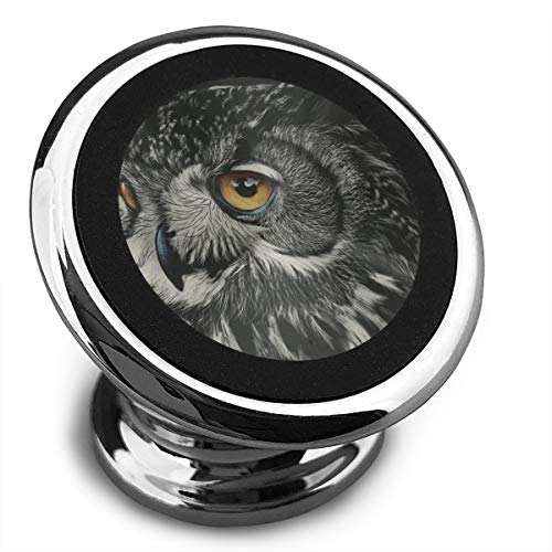 Magnetic Car Phone Black Owl Painting Mobile Bracket 360 Degree Rotation from Dashboard