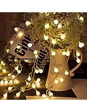 LOHAS 9 m 80 LED globus łańcuch świateł, 5 V niskie napięcie, dekoracyjne światło na imprezę w domu urodziny ogród festiwal ślub Boże Narodzenie do użytku wewnątrz na zewnątrz (ciepła biel)
