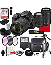 $1049 » Nikon D5600 DSLR Camera Kit with 18-140mm VR Lens+ 70-300mm Zoom Lenses | Built-in Wi-Fi | 24.2 MP CMOS Sensor | EXPEED 4 Image Processor and Full HD | SnapBridge Bluetooth Connectivity(29pc Bundle)