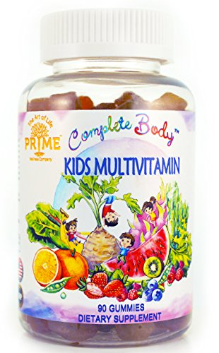 Complete Body™ Kid Multivitamin Gummies| A,C,D,E,B6,B12 Top Essential Vitamins & Minerals| Supports Immune, Energy, Metabolism + Choline/Inositol for Focus |No Sugar Coating|Gluten Free|non GMO