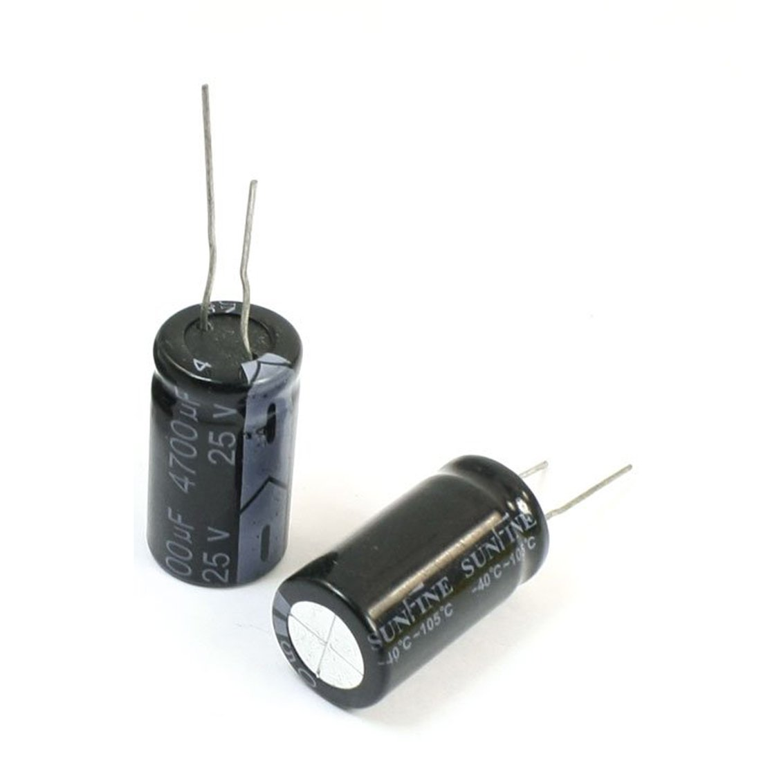 SODIAL(R) 6 Pcs 4700uF/25V Radial Leads Aluminum Electrolytic Capacitor