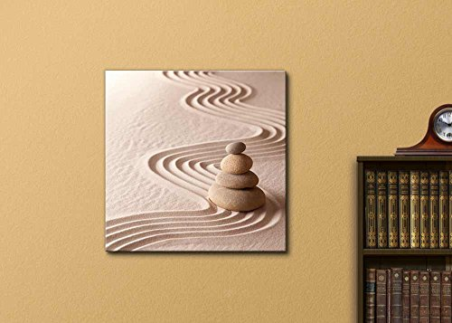zen meditation garden relaxation and meditation through symplicity harmony and balancce Wall Decor Wood Framed