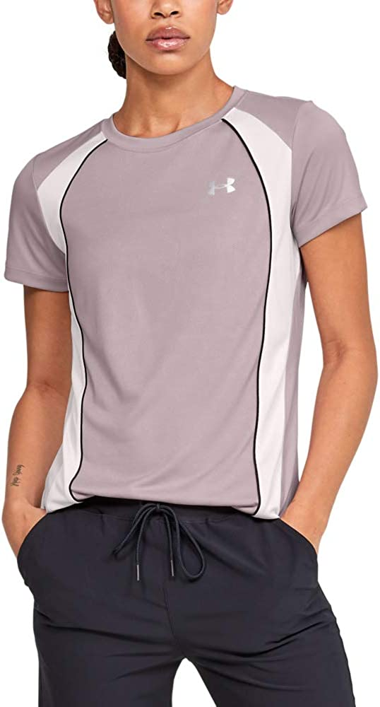 Under Armour Women's Tech C&S Jacquard Crew Neck Short Sleeve T-Shirt
