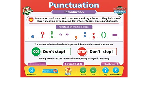 Amazon.com : DAYDDEN559 - PUNCTUATION INTERACTIVE WHITEBOARD ...
