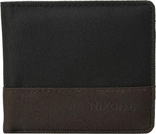 Nixon Men's The Atlas Nylon Showdown Bi-Fold Wallet Black/Dark Olive/Volt One Size ()