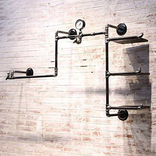 OTUGARE Industrial Retro Pipe Hung Clothing Rack Multi-Function Wall Mounted Clothes Store Display Rack