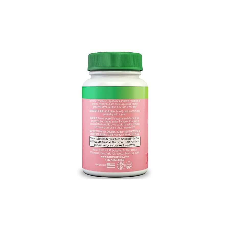 HairAnew (Unique Hair Growth Vitamins with Biotin) Tested For Hair, Skin & Nails Women & Men Addresses Vitamin Deficiencies That Could Be The Cause of Hair Loss/Lack of Regrowth * 60 VCaps