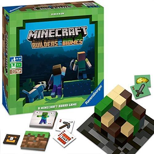 [해외]Ravensburger Minecraft: Builders & Biomes Strategy Board Game Ages 10 & Up / Ravensburger Minecraft: Builders & Biomes Strategy Board Game Ages 10 & Up