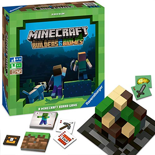 Ravensburger Minecraft: Builders & Biomes Strategy Board Game Ages 10 & Up (Best Strategy Board Games Of All Time)