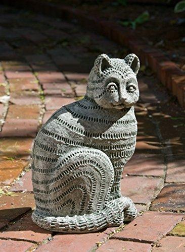 Campania International A-379-GS Williamsburg Delft Cat Statue, Grey Stone - 379 Cat