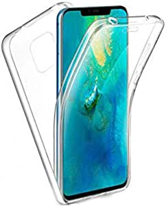 front and back clear cover for huawei mate 20 pro -clear