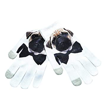 0a0fef89b Nankod Unisex Magic Touch Screen Full Fingered Gloves 3D Digital Printing  Animal Fruit Winter Knitted Mittens Colorful Wrist Warmer: Amazon.co.uk:  Sports & ...