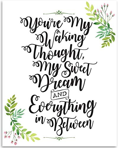 You're My Waking Thought - 11x14 Unframed Art Print - Great Inspirational Gift and Nursery Decor