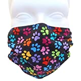 Breathe Healthy Face Mask. Colorful Paws Design; Comfortable, Reusable - Filters Dust, Pollen, Allergens, & Flu Germs - Ideal for Dog Grooming