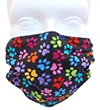 Colorful Paws Style Face Mask - Comfortable, Reusable Face Mask - Protection from Dust, Pollen, Allergens, & Flu Germs - Ideal for Dog Grooming (2-pack Deal!)
