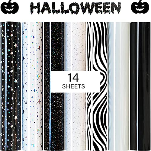 Heat Transfer Vinyl for Cricut Iron On, Accessories for HTV Bundle 14 Sheets(10