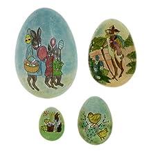 Paper Mache Ornament Easter Egg 4 Gift Boxes Handmade in Kashmir