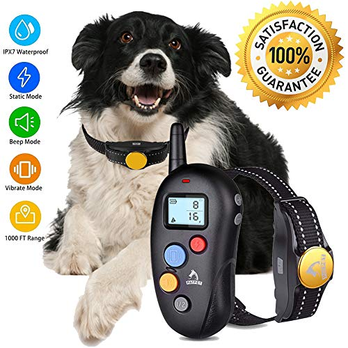 Dog Training Collar Shock Collar for Dogs – Shock Dog Training Collar with Remote 100% Waterproof Barking Collar with Beep Vibration Shock E-collar Dog Training Collar for Small Medium Large Dogs