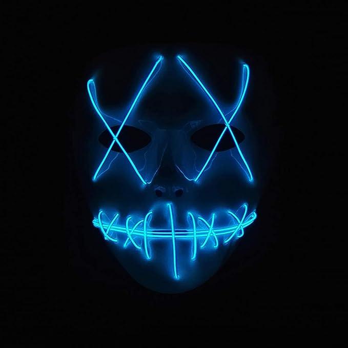 Amazon.com: Chloefairy LED Light Up Mask Scary Purge Mask ...