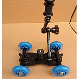 Professional Photography & Cinema Dolly System With Arm Travel Size for Video DSLR Camera Camcorder Canon Sony ..