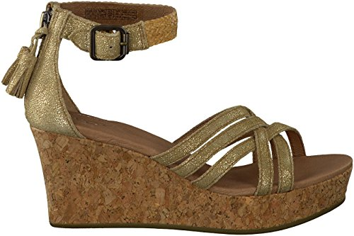 UGG Women's Lillie Metallic Chestnut Gol - Ugg Suede Wedges Shopping Results