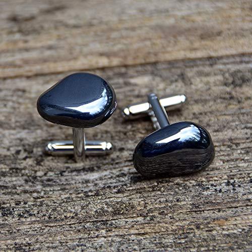 Hematite Cufflinks - Grounding and Balancing