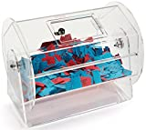 Clear Acrylic, Rotating Raffle Drum With Locking Door - Small