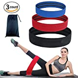Hip Circle Resistance Bands Set of 3 – Booty Exercise Bands for Thigh, Butt, Glute, Hams – Low, Medium and Heavy Loop Set – Workout Warm-Up Squats Mobility Stretching, Non Slip/Roll (Blue, Red, Black) Review