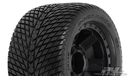 "Proline 117711 Road Rage 3.8"" Street Tires Mounted on Desperado Black Wheels"