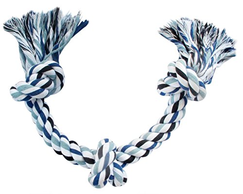 Blue's Choice Rope Toy For Dogs – A Large and Durable Chew Toy for Dogs, good as a puppy toy for puppy teething, for Aggressive Chewers, indestructible toy for Large and Medium Dog Breeds (Blue)