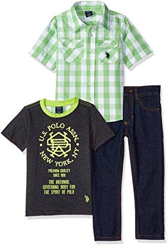 U.S. Polo Assn. Boys Short Sleeve, T-Shirt and Pant Set