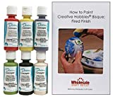 Duncan CNKIT-9 Concepts Underglaze Primary Colors Paint Set, 6 Best Selling Colors in 2 Ounce Bottles with Free How To Paint Ceramics Book