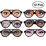 TOYMYTOY 12pcs Funny Joke Glasses Party Crazy Eyes Glasses Fancy Dress Photo Props (Random Style)
