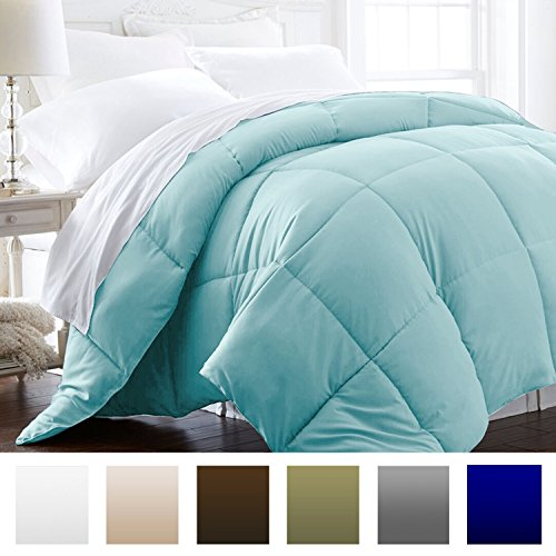 Beckham Hotel Collection 1600 Series – Lightweight – Luxury Goose Down Alternative Comforter – Hotel Quality Comforter and Hypoallergenic – King/ Cal King – Aqua