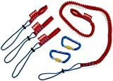 Knipex Tools 00 50 04 T BKA Tether System Lanyard, Adapter Straps, Carabiners