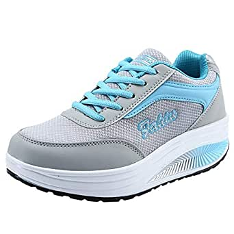 58a684715 Amazon.com: Sneakers For Women,Clearance Sale!!Farjing Wedges ...